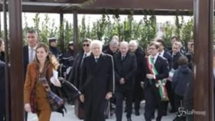 Firenze, Mattarella inaugura la linea T2 della tramvia