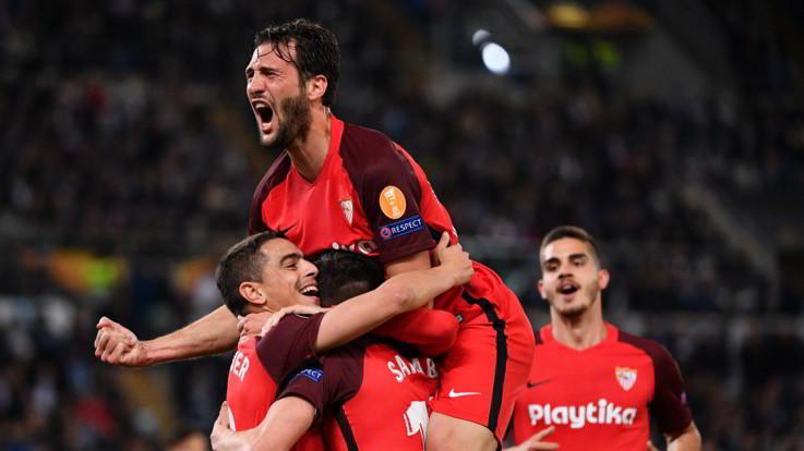 Europa League, Ben Yedder gela la Lazio: Siviglia espugna l'Olimpico