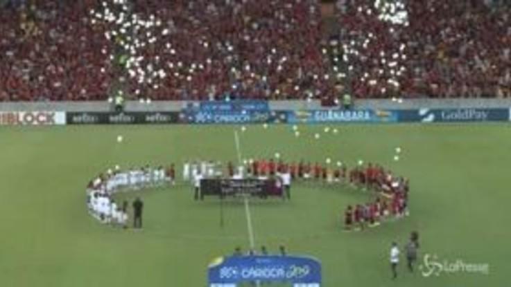 Flamengo, al Maracanà l'emozionante ricordo delle giovani vittime dell'incendio