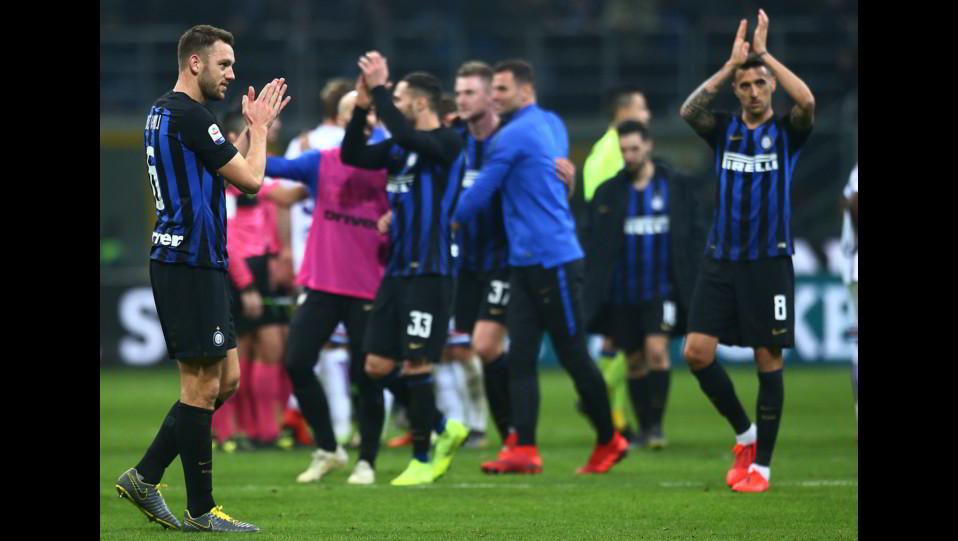 L'esultanza dell'Inter a fine gara ©