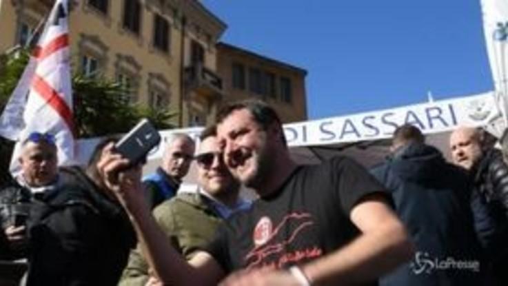 """Salvini in Sardegna: """"Sembra C'è posta per te"""""""