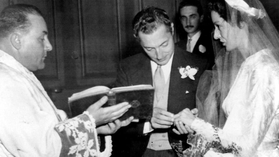 Marella Agnelli nel giorno del matrimonio con l'Avvocato (19 novembre 1953) ©