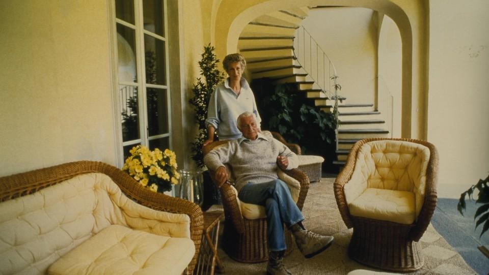 Giovanni e Marella Agnelli in un'immagine del 1988 ©