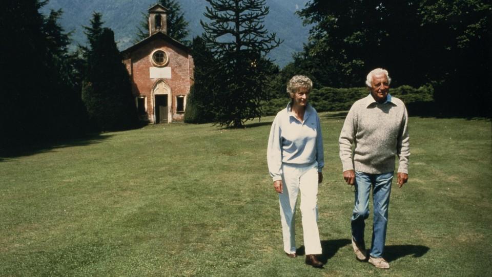 Con Giovanni Agnelli a Perosa Argentina nel 1986 ©
