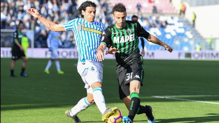Serie A, Sassuolo-Spal 1-1: Petagna su rigore risponde a Peluso