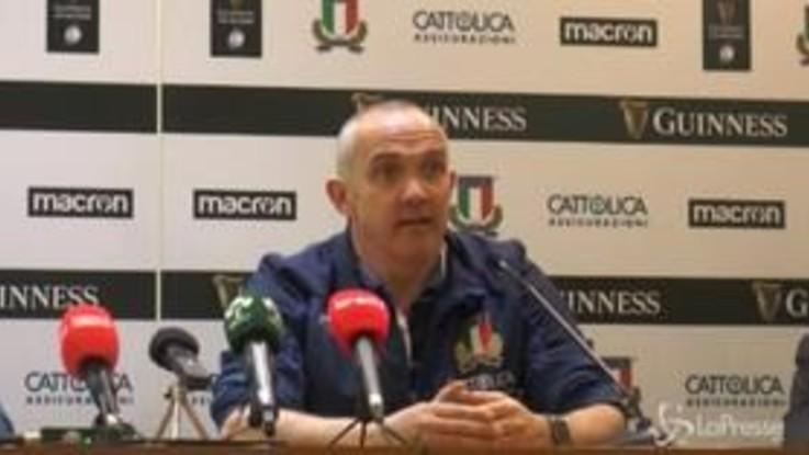 """Rugby, O'Shea: """"Costruiremo la squadra 'little by litte'"""""""