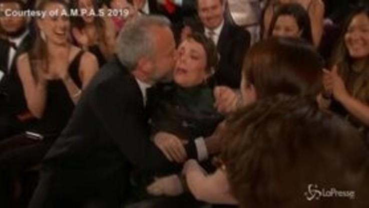 Oscar 2019, l'incredulità di Olivia Colman per la vittoria