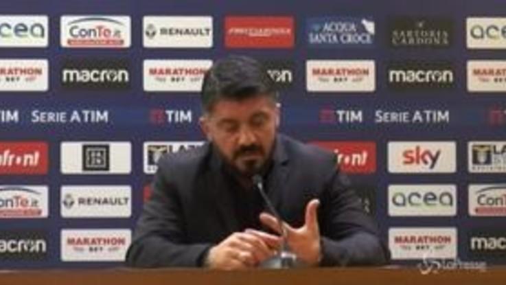 """Coppa Italia Lazio-Milan, Gattuso: """"La squadra non mi è piaciuta a livello tecnico"""""""
