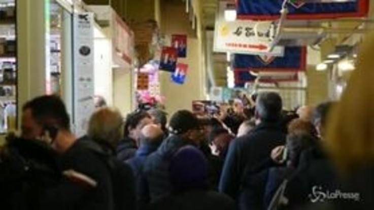 "Cagliari, un contestatore a Salvini: ""Fascista di m..."""