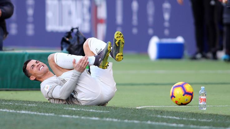 Juve, botta alla caviglia: Ronaldo in dubbio per il Napoli