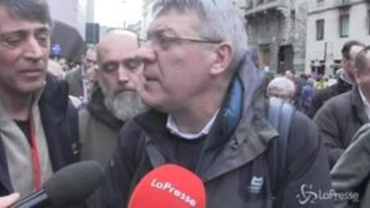 """Corteo Milano, Landini: """"Politiche sbagliate del governo"""""""