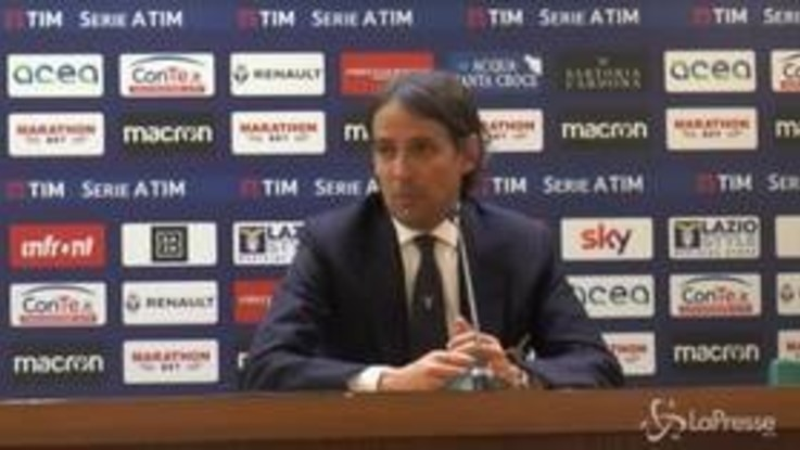 """Lazio, Simone Inzaghi: """"Bravissimi i ragazzi, essere lucidi in un derby è difficile"""""""