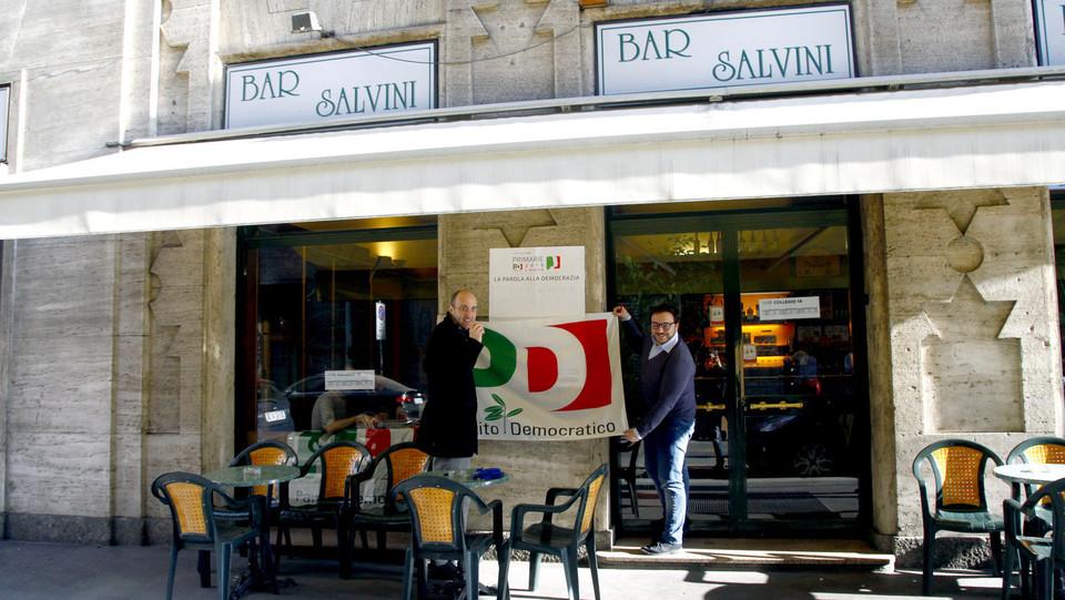 voto al Bar Salvini di Milano ©