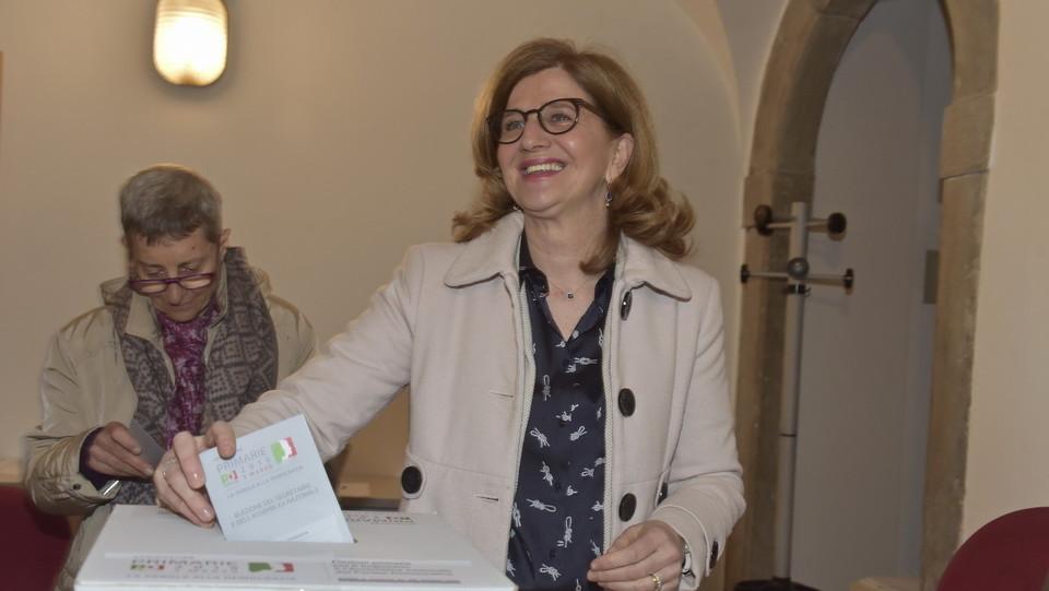 La deputata Elena Carnevali ai sieggi bergamaschi ©