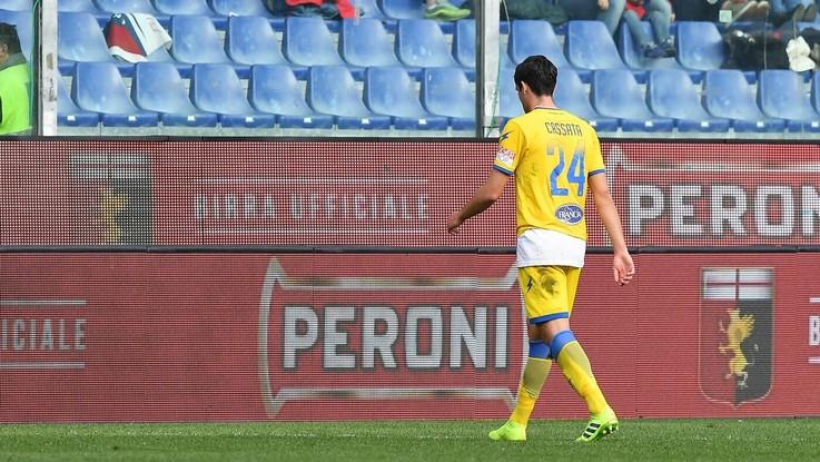 Serie A, Genoa bloccato da Frosinone in dieci: è 0-0 al Ferraris