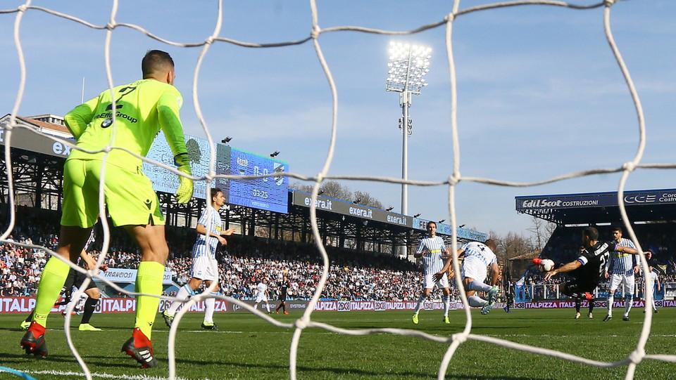 4' Quagliarella blocca subito il risultato in favore della Sam 0-1 ©