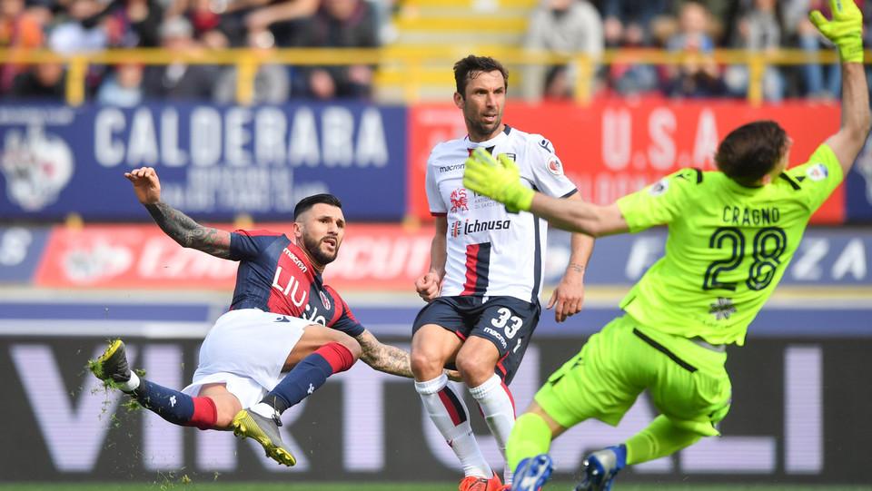 Roberto Soriano (Bologna F.C.) realizza il gol 2-0 ©
