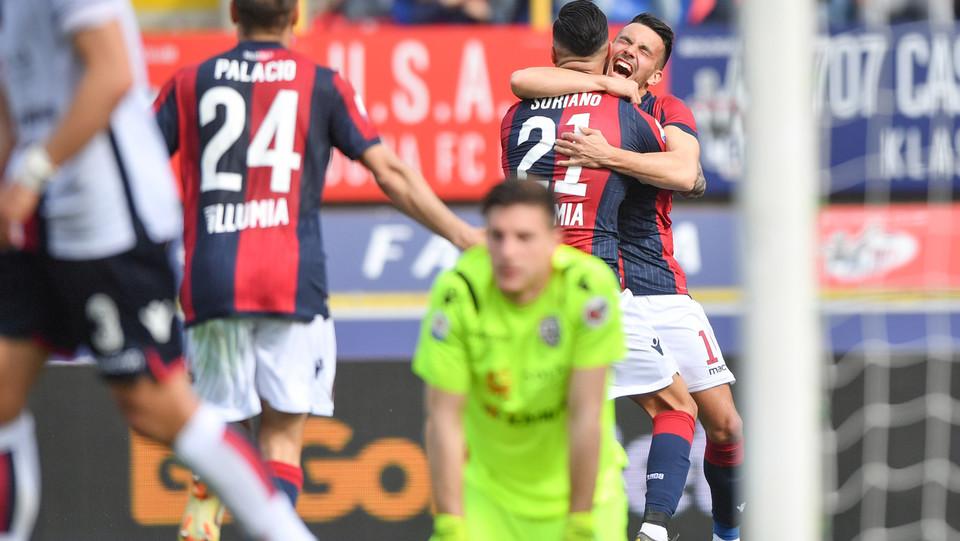 Roberto Soriano (Bologna F.C.) esulta dopo aver realizzato il gol 2-0 ©