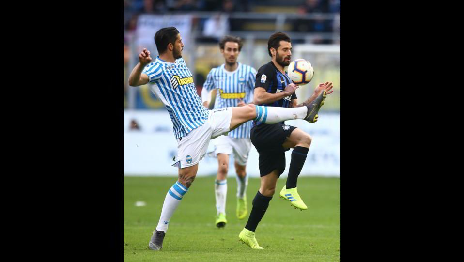 Candreva (Inter) e Floccari (Spal) ©