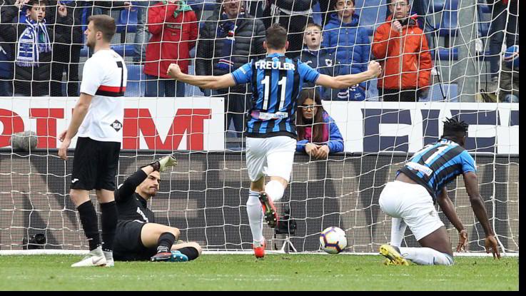 Serie A, grande battaglia a Marassi, l'Atalanta supera la Samp: 1-2