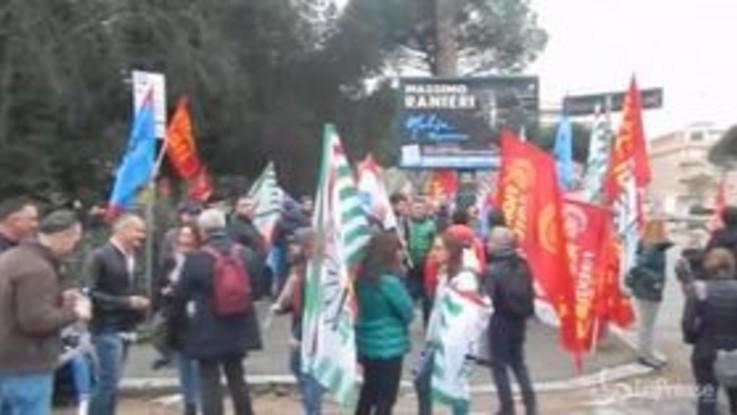 Roma, sciopero dei dipendenti del Gruppo Engineering