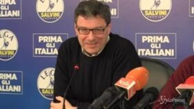 """Lega, Giorgetti: """"Non siamo noi a creare problemi, noi aiutiamo a risolverli"""""""