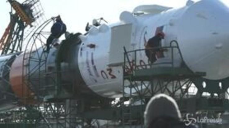Spazio, la Soyuz pronta per il lancio