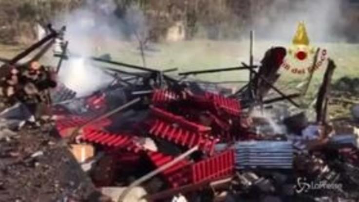 Avellino: esplode deposito fuochi d'artificio, un morto e diversi feriti