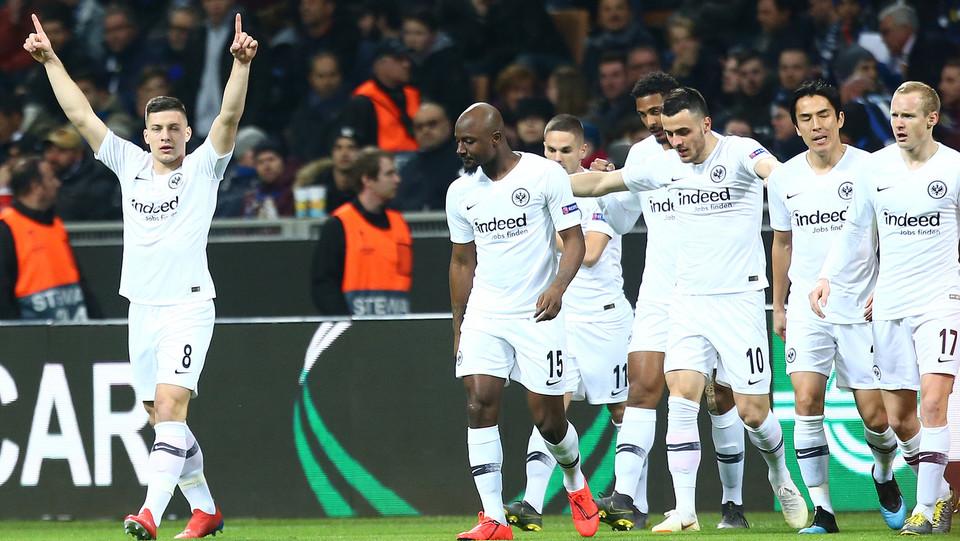 Jovic esulta dopo il gol ©