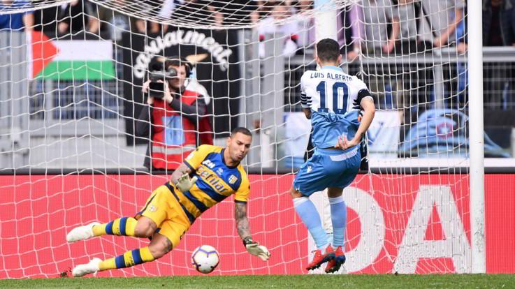 Serie A, doppietta Luis Alberto: la Lazio travolge il Parma e rivede la Champions