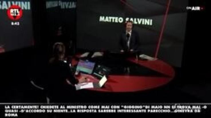 """Salvini: """"Non penso che al governo ci siano dei co...i"""""""