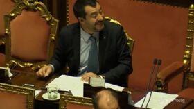 Diciotti, Salvini prende un caffè in Senato in attesa del giudizio