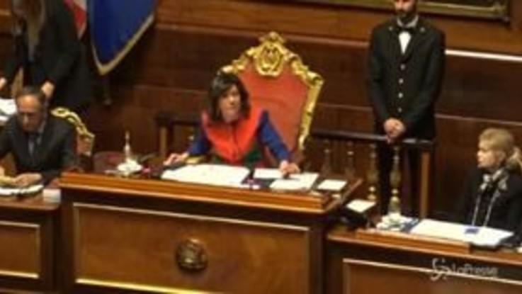 Sfiducia a Toninelli in Senato, lite tra Casellati e Marcucci