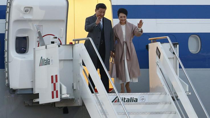 """Via della Seta, Xi Jinping è atterrato a Roma.Colle: """"Scambi trasparenti"""""""