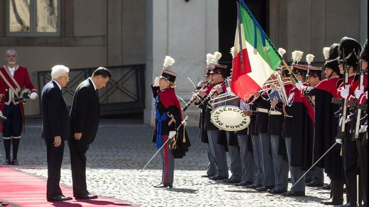 Xi Jinping al Quirinale. Le prime immagini della visita a Roma