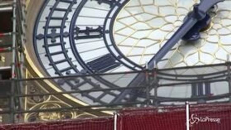 Westminster, svelato il nuovo look della torre dell'orologio