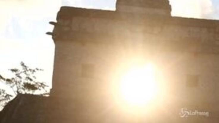 Messico, a Teotihuacan l'arrivo della primavera è mozzafiato
