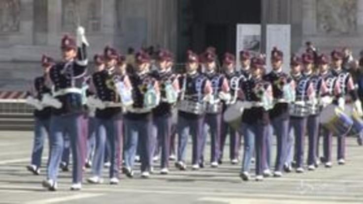 Milano, il giuramento degli allievi della Scuola Militare Teulié
