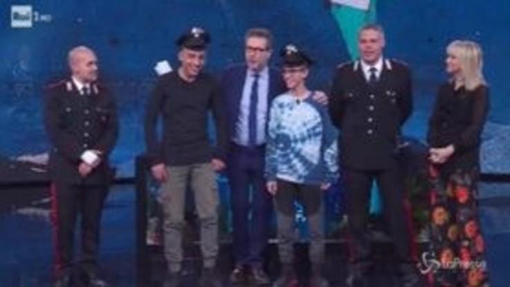 """Ramy e Adam: """"Da grandi faremo i carabinieri"""""""