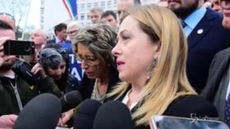 """Torino, Meloni: """"La Tav si deve fare per ancorare l'Italia alla modernità"""""""