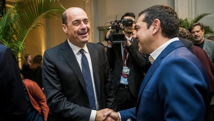 """Zingaretti: """"Al voto con 'Siamo Europei' e Pd nel simbolo. Pronti alla sfida sul salario minimo"""""""