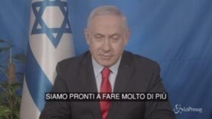 """Gaza, Netanyahu: """"Faremo ciò che è necessario per difenderci"""""""