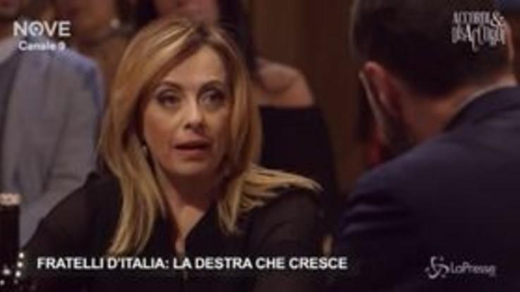 """Centrodestra, Giorgia Meloni: """"Oggi più affinità con la Lega che non con FI"""""""