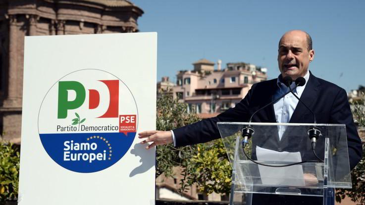 """Pd, Zingaretti presenta il simbolo per le europee: """"Unità per fermare deriva nazionalista"""""""