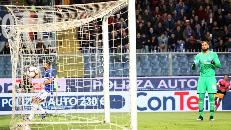Bella partita a Marassi: la Samp batte il Milan. Proteste rossonere: 1-0