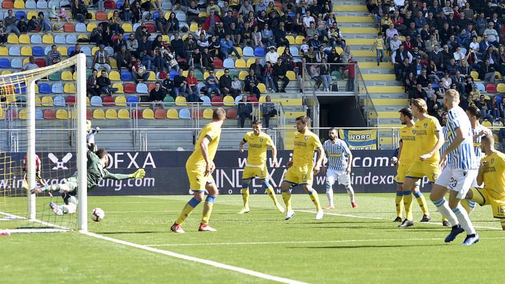 Il Frosinone fa la partita, ma i tre punti vanno alla Spal: 0-1