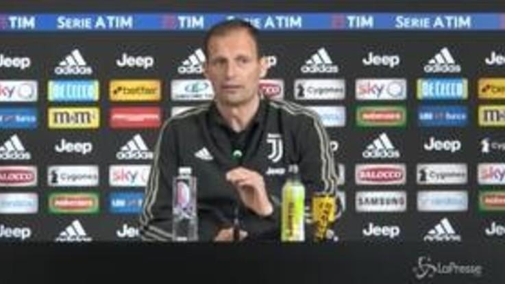 """Juve, Allegri: """"Difficile, ma speriamo di avere CR7 con l'Ajax"""""""