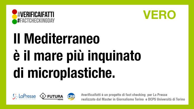 è vero mediterraneo mare più inquinato microplastiche #verificaifatti