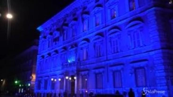 Giornata mondiale autismo: Montecitorio e Palazzo Madama si tingono di blu