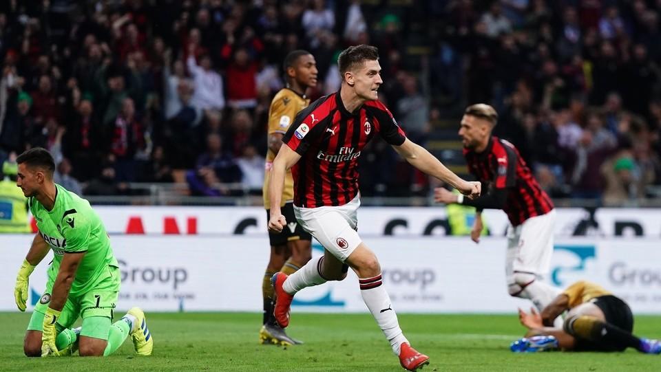 Il gol di Krzysztof Piatek per il Milan ©